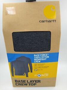 Carhartt Base Force 100% Cotton Midweight Crew MBL148 BLKHTR