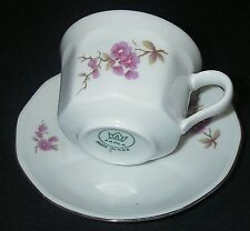 MINI Demitasse China Cup/Saucer Kahla German Democratic Republic Pink Floral