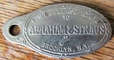 A&S Abraham and Strauss Department Store Brooklyn NY Early Metal Credit Card Tag