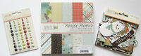 SIMPLE STORIES [WINTER WONDERLAND] 6x6 Paper Pad and Embellishments  Save 40%