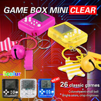 Portable Mini Game Machine Built-in 26 Child Puzzle Game Game Console w/Keychain