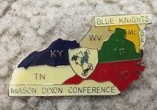 Blue Knights Police Motorcycle Club - Mason Dixon Conference Enamel Pin - NOS