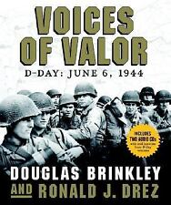 Voices of Valor: D-Day June 6 1944 by Doug Brinkley +Ronald J. Drez CD/Hardcover