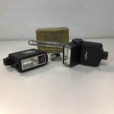 Vintage Two Flash Units Crown Quick 175 and Soltron 141 Solidstate  #323