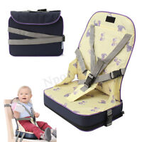 Portable Baby Toddler Dining High Chair Feeding Booster Seat With Harnes