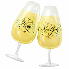"Happy Year Amscan Licensed 30""x27"" Super Shape Balloon Toasting Glasses"