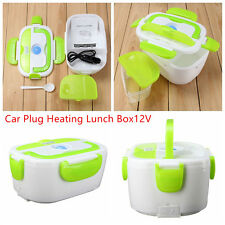12V Electric Heated Car Plug Lunch Box Set Outdoor Picnic Food Warmer Container