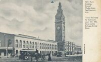 SAN FRANCISCO CA -Ferry Building Market Street Tower Destroyed by Earthquake-udb