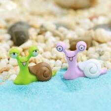 PRO  Garden Ornament Miniature Snail Figurine DIY Craft Fairy Dollhouse D ujkl