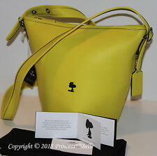COACH X Peanuts Snoopy Bleecker Mini Duffle Bag Tote Yellow LIMITED EDITION