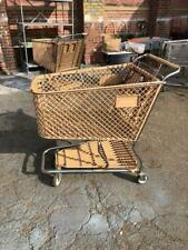 Shopping Carts Large Tan Plastic Lot 8 Used Store Fixtures Shop Baskets Grocery