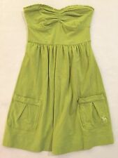Abercrombie & Fitch wmn sz XS light green slvlss strapless dress EUC