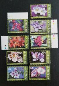 Bahamas 2006 Flowers MNH 9 values