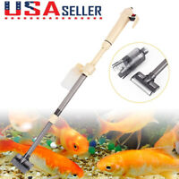 Electric Aquarium Gravel Cleaner Fish Tank Washer Water Changer Pump Filter  US