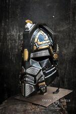 Medieval Blackened Steel/Brass & Leather LARP Royal Dwarven Dwarf Helmet