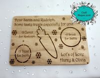 Personalised Christmas Eve Treat Board, Santa / Rudolph Chopping Board
