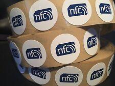 10 30mm White NXP NTAG216 PVC NFC Tag Sticker Samsung Nokia Sony LG Android