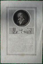 Gravure XVIIIe, Danton, Révolution française, Engraving, radierung, 18th.