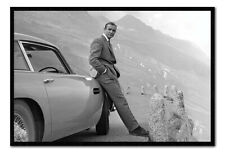 FRAMED James Bond Sean Connery & Aston Martin DB5 Poster Official 26x38""