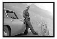 "FRAMED James Bond Sean Connery & Aston Martin DB5 Poster Official 26x38"""