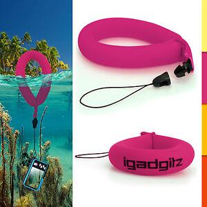 1 Neon Pink Floating Foam Strap for Waterproof Cameras Go Pro Marine Binoculars
