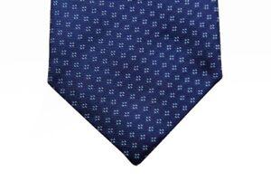 Battisti Tie Royal blue with geometric pattern, hidden pocket, pure silk