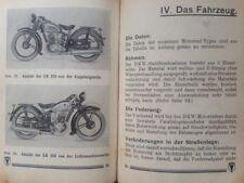 1935 DKW 500 SB original Betriebsanleitung 200 - 500 BMW Indian