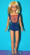 Vintage Barbie ORIGINAL SKIPPER Blonde SUN SET MALIBU in Bendable Leg Swimsuit