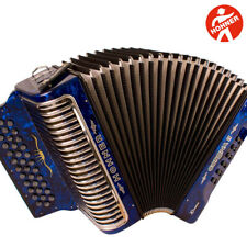 Hohner Corona II Xtreme EAD 34 Button  Blue Accordion with Straps and Gig Bag
