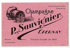 BUVARD  -  CHAMPAGNE R. SAUVIGNIER  /  EPERNAY  -