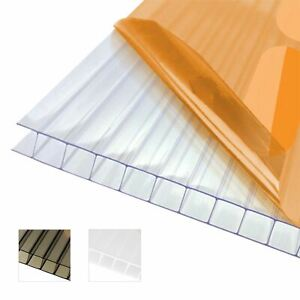 10mm Twinwall Polycarbonate Sheet Conservatory Lean-To Carport Canopy Roofing