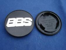 4x BBS RS/RM Emblem Nabenkappe 70mm Carbon/Chrom 0924282 Original Felgendeckel !