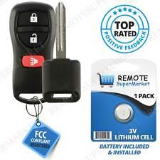 Replacement for Nissan 2007-2013 Versa 2005-2014 Xterra Remote Car Key Fob Set