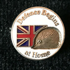 More details for hedgehogs defence begins at home political right wing pressure group badge 1980s