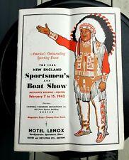 Vintage New England Sportsmen's & Boat Show hunt fish event catalog program 1942