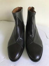 Jil Sander Tonal Patchwork Ankle Boots In Nappa Leather 38/8 Barneys $1095. NEW