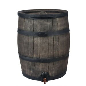 ROTO Water Barrel 120L - Stylish Wood-Effect - Fast UK Delivery