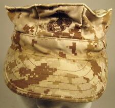 USMC Marine Corps MARPAT Desert 8 Point Garrison Hat Cap Cover W/ EGA  Ver 3