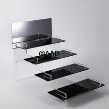 Acrylic 4 step retail display stand Riser Counter to organizer cupcake jewelry