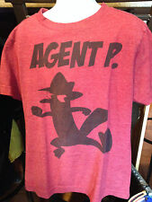 """Old Navy Collectabilitees Boys Red Heather T-Shirt Sz Small """"Agent P"""" Euc"""