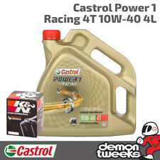 Castrol Power 1 Racing & K&N Oil Filter Kit