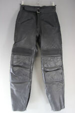 SPORTEX APOLLO BLACK LEATHER BIKER TROUSERS: WAIST 30 INCH/INSIDE LEG 30 INCH