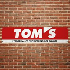 Toms Performance Banner Garage Workshop PVC Sign Track Car Racing Display