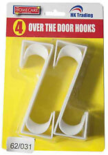 4 X sobre la puerta Multi Ganchos Space Saver Abrigo Vestido Ropa Blanca Para Rack