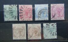 Barbados 1882 - 1886 values to 4d x 3 Used
