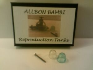 model aircraft engines reproduction tanks for Allbon Bambi, Dart, Spitfire.