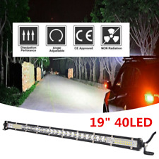 "19"" Slim LED Light Bar W/ Mount Bracket 30000LM Work Light Car Driving Lights"