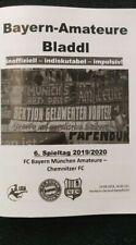 Programm FC Bayern München FCB Chemnitzer FC 24.08.2019 Amateure Bladdl 3.Liga