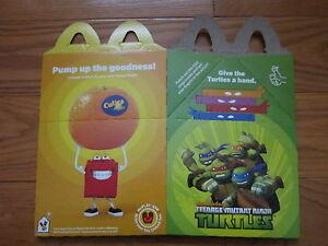 McDonalds 2015 Teenage Mutant Ninja Turtles Happy Meal New ACQUIRED FLAT BOX