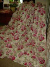 """Vintage  Laura Ashley """"Roses"""" curtains. Thermal interlined, heavy. 72""""w x 85""""L"""